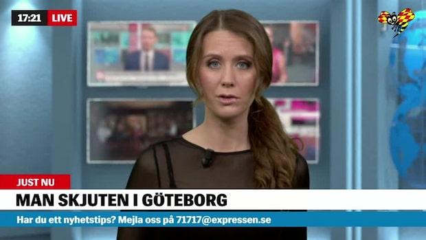 Man skjuten i Göteborg – stort pådrag
