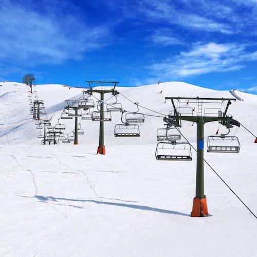Här åker du på berg som sträcker sig uppåt 2500 meter över havet.