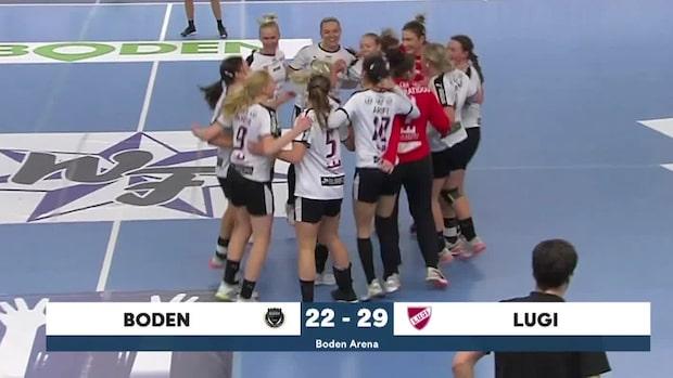 Highlights: Lugi krossade Boden