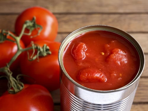 Lykopen, tomatens röda färgämne, finns det särskilt mycket av i burktomater