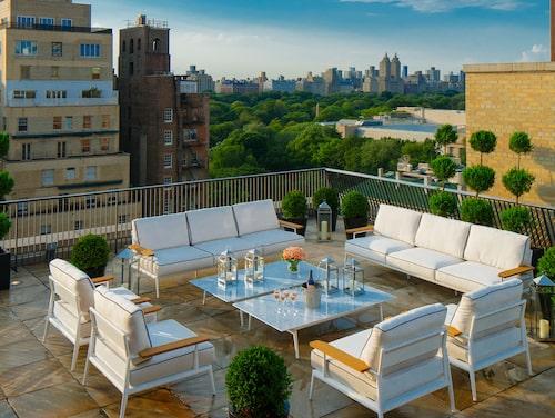 Den här takterrassen får du njuta av om du checkar in på den lyxiga sviten på The Mark Hotel i New York.