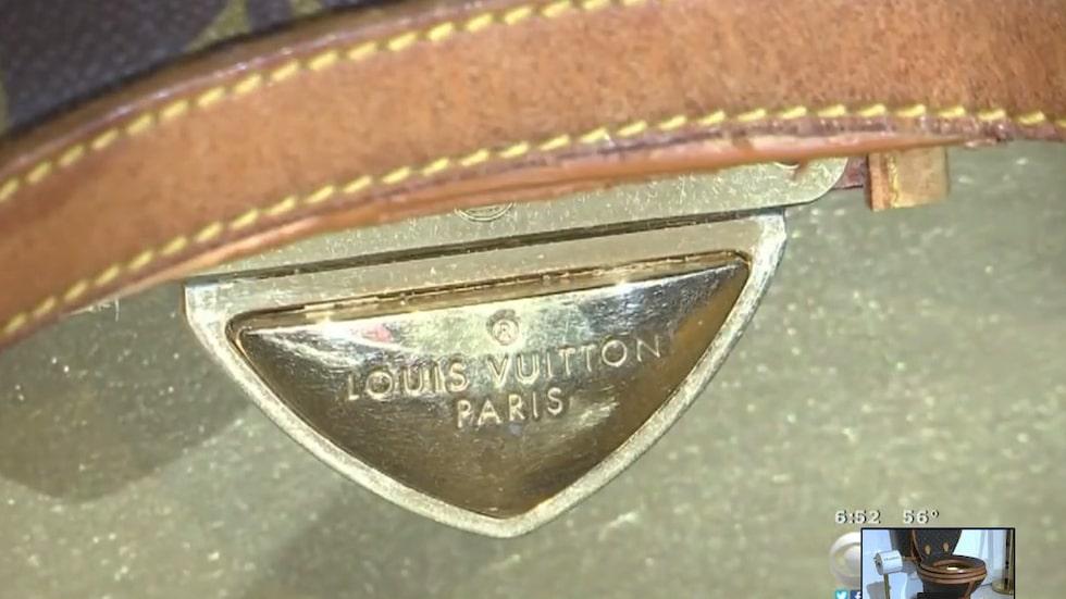 Märket som garanterar att det är en äkta Louis Vuitton.