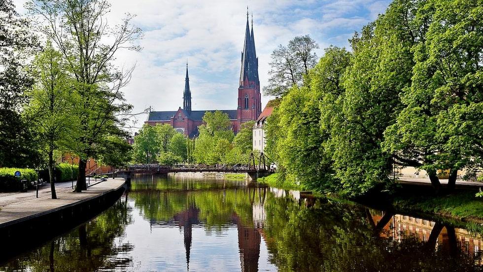 Lägenheten på endast 11,1 kvadratmeter ligger precis bredvid Fyrisån, ett av de bästa lägena i Uppsala.