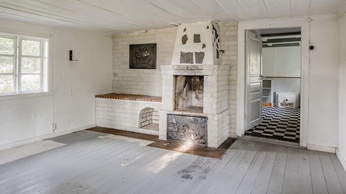 Allrum finns på nedervåningen.