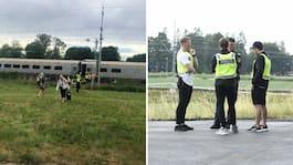 Flera personer påkörda av tåget – en person död