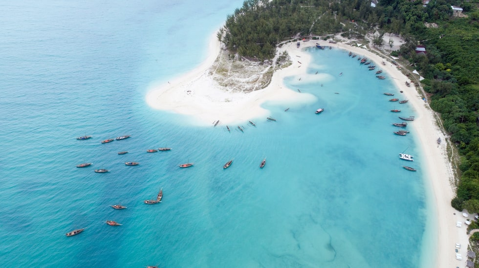 I Tanzania är Kendwa beach på Zanzibar en av landets bästa.