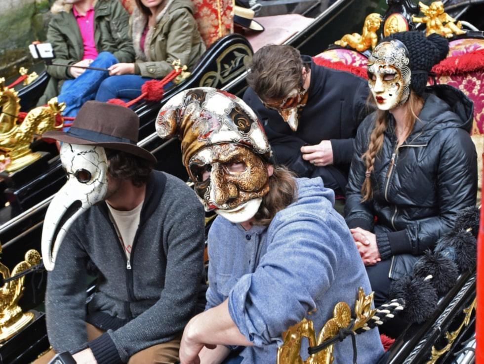 Venedigs maskeradtradition syns överallt i staden.