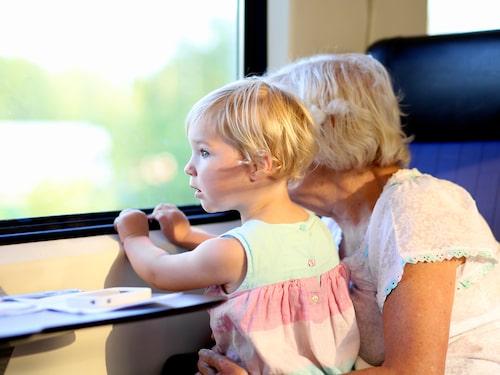 Interrailkort för barn som är upp till 12 år kostar inget.