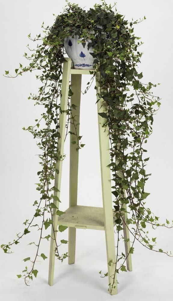 Blomfint. Piedestal, 225 kronor, Årstiden. Blå/vit kruka, 250 kronor, Hemtrevligt.