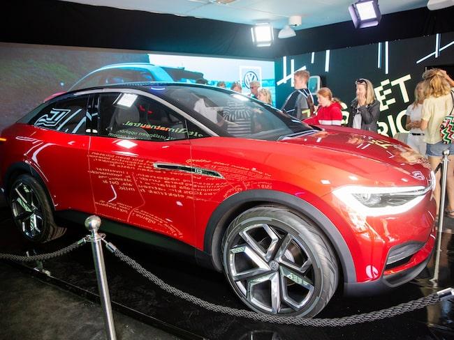 ID. Crozz, eldriven konceptbil från Volkswagen som visades i Almedalen.