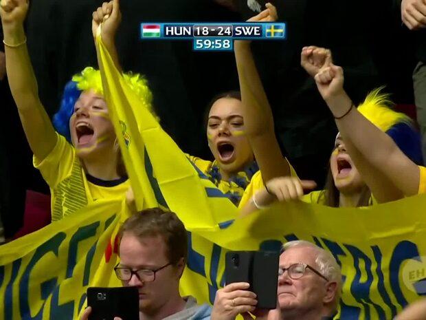 Höjdpunkter: Sverige krossade Ungern