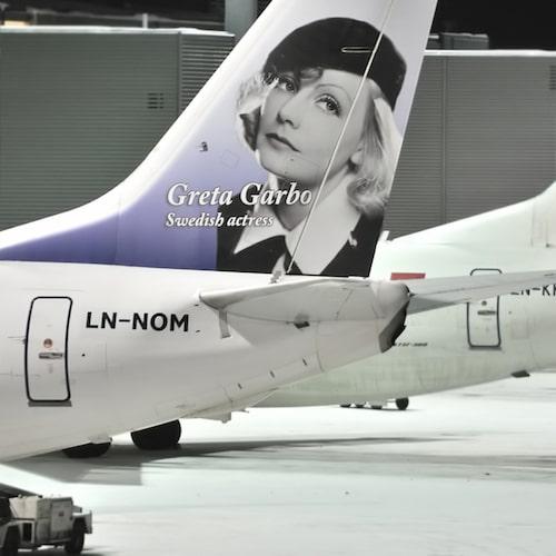 De första svenska hjältarna som avmålades på Norwegian var Greta Garbo.