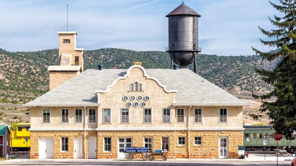 Ely, Nevada, här ligger Nevadas järnvägsmuseum.