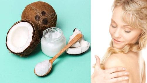 Kokosolja fungerar fint som make up-remover.
