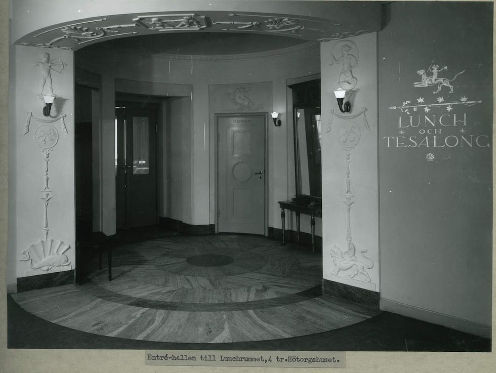 Den gamla ingången till lunch- och tesalongen.