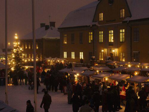 Genuin julstämning vid Falu gruva.