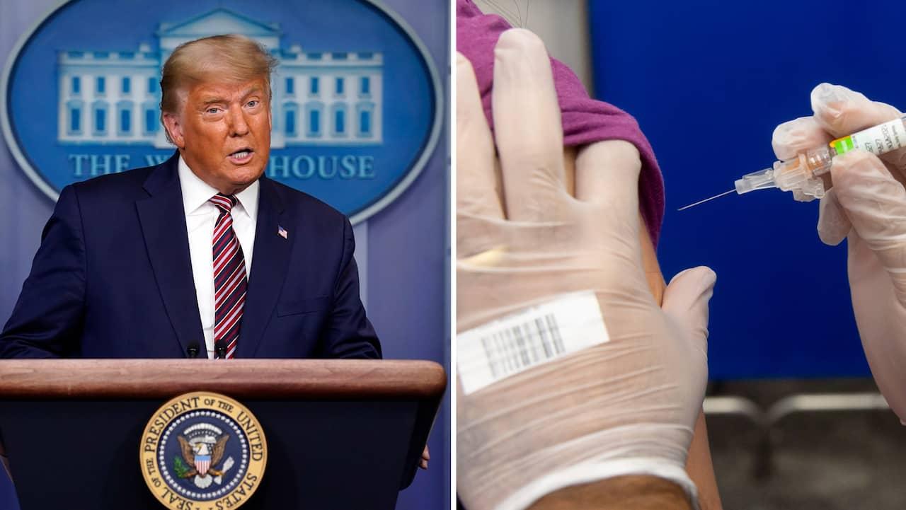 Trump-administrationens besked: Gratis covidvaccin