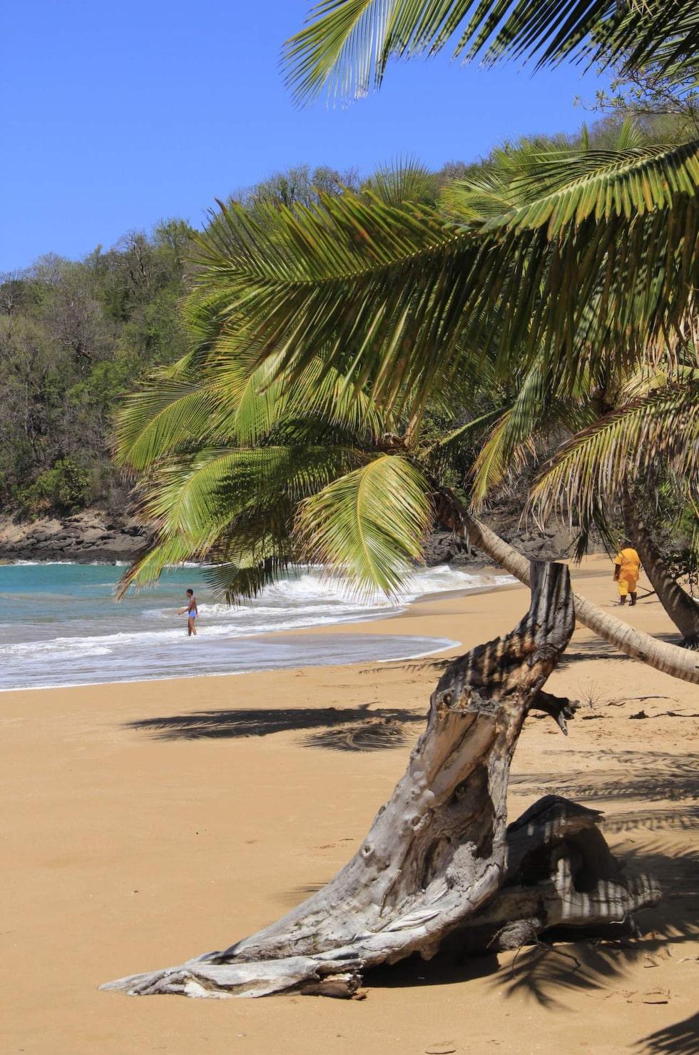 Plague de la Perle nära Deshaies – en av Guadeloupes fantastiska stränder.