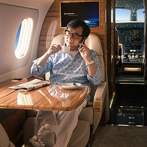 Endast det bästa är gott nog för Jackie Chan.