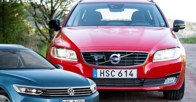 Volvo V70 och Volkswagen Passat – två storlastare som är riktigt bra begagnatköp.