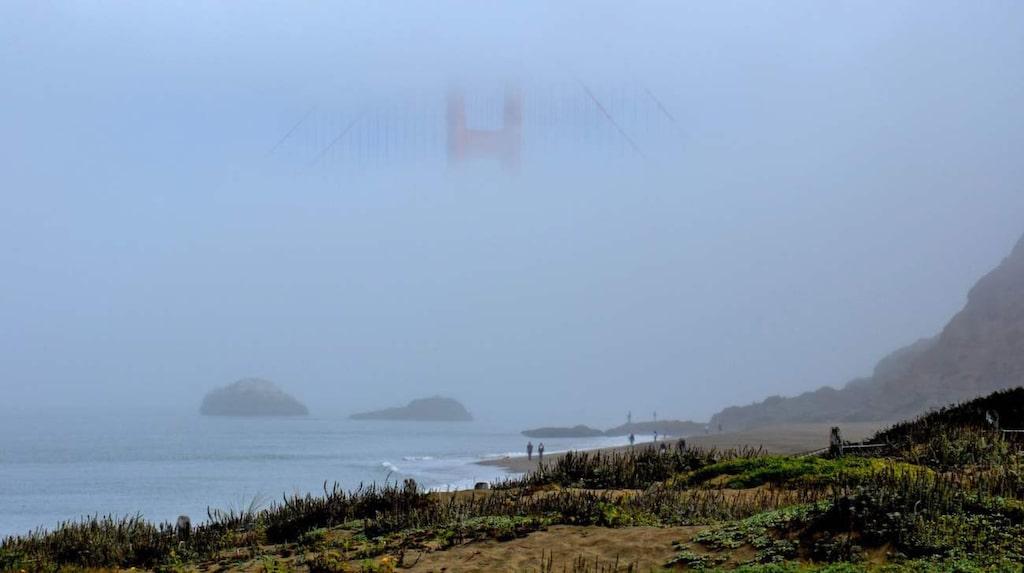 <p>Baker Beach med fina vyer över Golden Gate-bron och bukten.</p>
