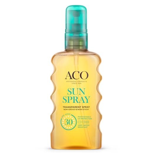 Transparent sun spray Spf-30 – Aco.