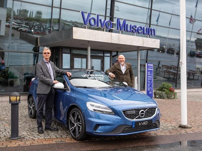 Stefan Inerfeldt, kommersiell projektledare, till vänster, och Lennart Odhner, produktchef V40.