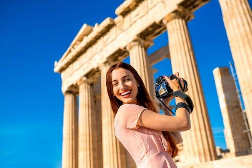Lämna klackskorna hemma om du besöker antika monument i Grekland.