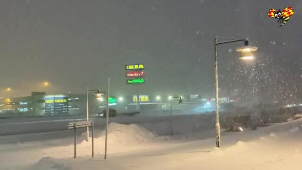 """""""Här slår snön till som värst just nu"""""""