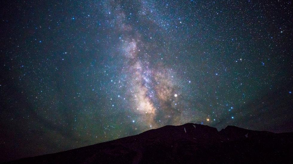 Vintergatan sett från Great Basin nationalpark.