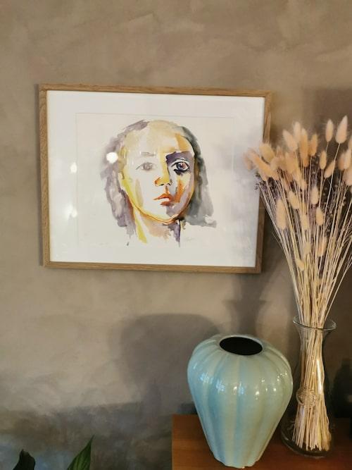 Akvarell av Lisettes mamma Marianne Pagler.