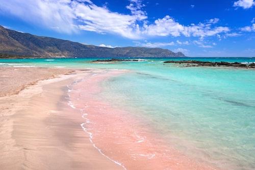 Elafonissi, den rosa stranden, hit vill Jungrun gärna åka.