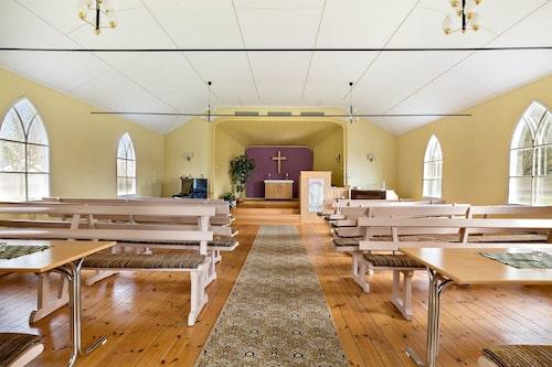 Allting är intakt i missionskyrkan med ursprung från 40-50-talet.