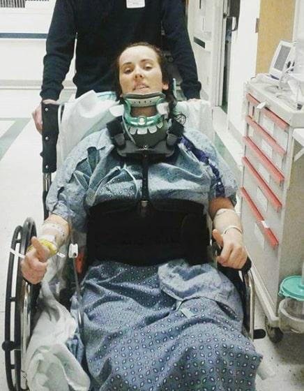 Katie-Anne Salter tvingades till operation efter olyckan.