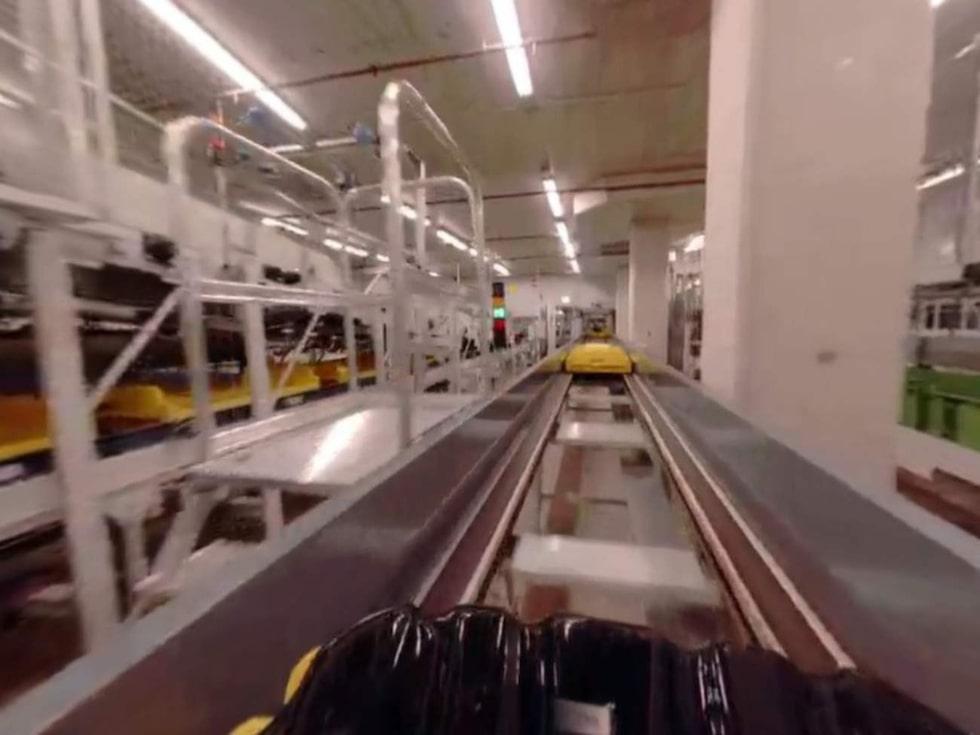 Anläggningen, som brukas i Schiphols södra bagagehall, är världens mest moderna.