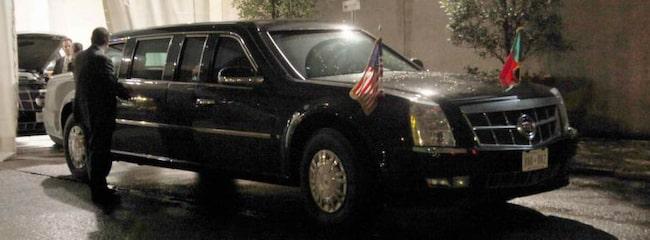 """SUPERLIMO. Obamas """"Cadillac"""" The Beast kan mycket väl vara världens säkraste bil."""