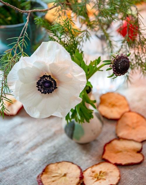 Camilla och Erik älskar julens dofter och ser ätbara ting som en del av julens pynt.