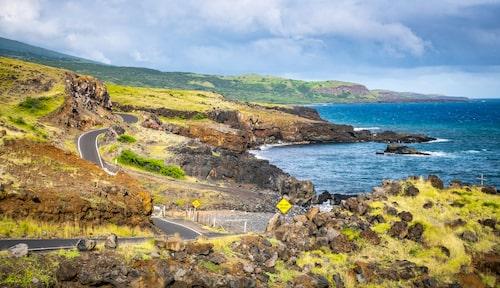 Med över 600 kurvor är Hana Highway på Maui något av en turistattraktion i sig.