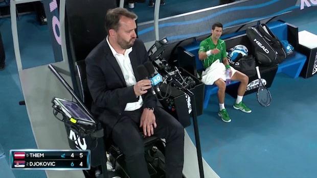 """Djokovics utbrott mot domaren: """"Du gör dig till en kändis"""""""