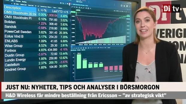 Marknadskoll: Storbolagsindex tyngs av Boliden och Sandvik