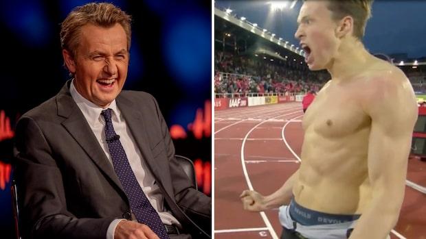 """Bilderna på norska stjärnan chockar Skavlan: """"Strippshow!"""""""