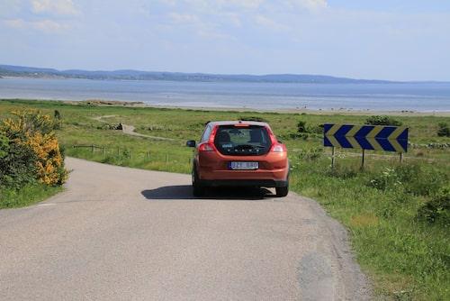 Hallands kustväg bjuder på klart havsnära vyer.