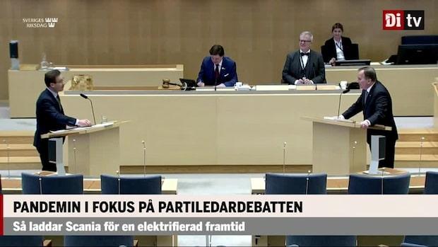 Politik: Pandemin i fokus när Löfven pressades