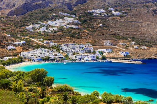 Amargos har det blåaste havet i hela Grekland.