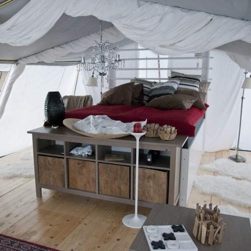 Det finns lyxiga tält